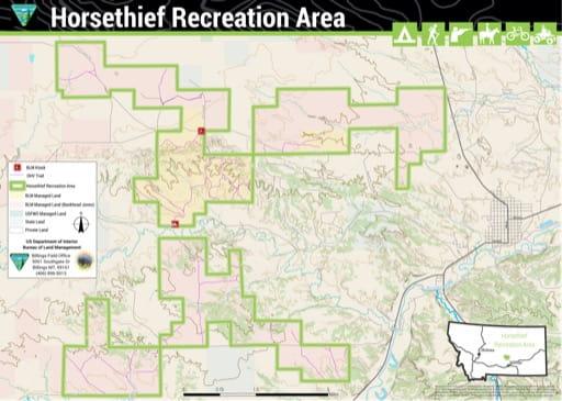 map of Horsethief - Recreation Map