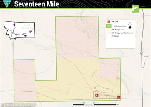 map of Seventeen Mile - Recreation Map