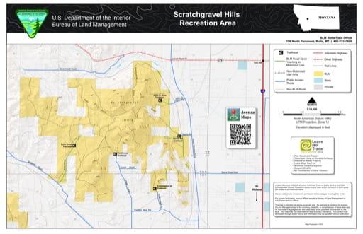 map of Scratchgravel Hills - Recreation Map