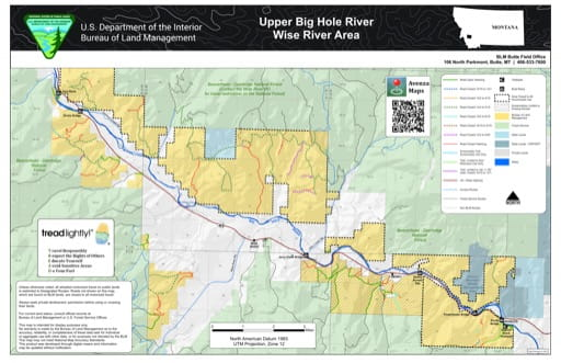 map of Upper Big Hole River / Wise River