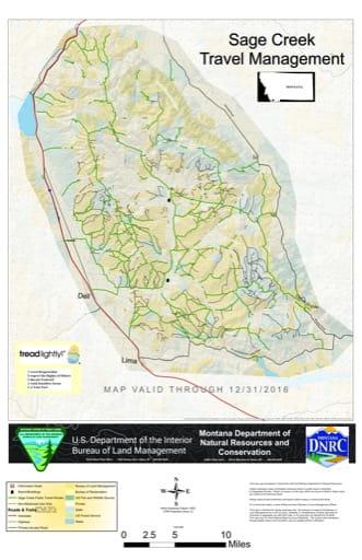 map of Sage Creek - Travel Map