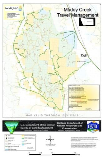 map of Muddy Creek - Travel Map