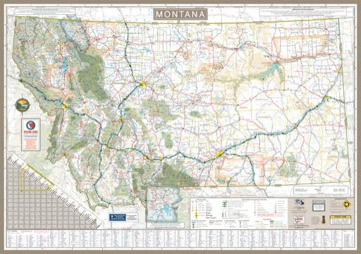 Highway Map of Montana. Published by the Montana Department of Transportation.