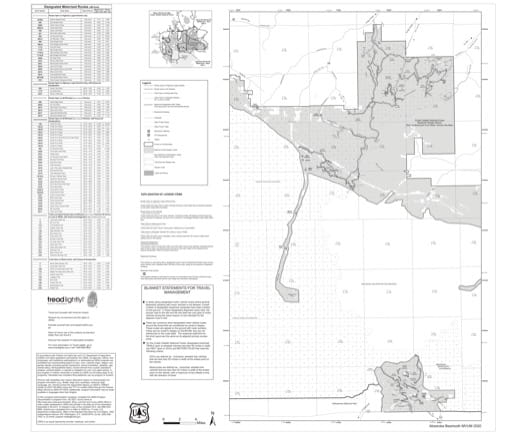 Motor Vehicle Use Map (MVUM) of Absaroka-Beartooh East in Custer Gallatin National Forest (NF). Published by the U.S. Forest Service (USFS).