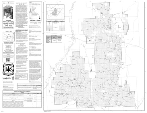 Motor Vehicle Use Map (MVUM) of Ashland in Custer Gallatin National Forest (NF). Published by the U.S. Forest Service (USFS).