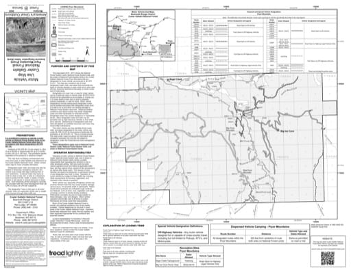 Motor Vehicle Use Map (MVUM) of Pryor Mountains in Custer Gallatin National Forest (NF). Published by the U.S. Forest Service (USFS).