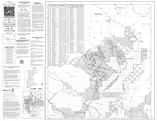 Motor Vehicle Use Map (MVUM) of Gallatin Range and Northern Madison Range in Custer Gallatin National Forest (NF) in Montana. Pblished by the U.S. Forest Service (USFS).