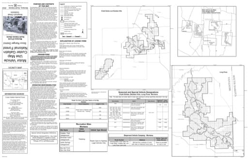 Motor Vehicle Use Map (MVUM) of the Montana Units of Sioux Ranger District in Custer Gallatin National Forest (NF) in Montana. Published by the U.S. Forest Service (USFS).