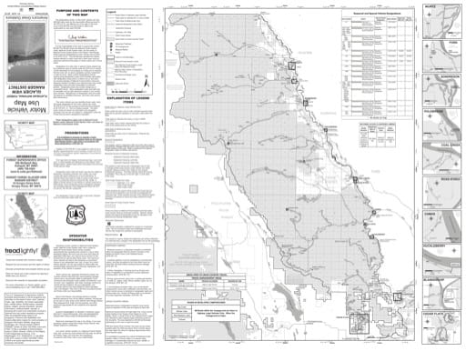 Motor Vehicle Use Map (MVUM) of Glacier View Ranger District in Flathead National Forest (NF). Published by the U.S. Forest Service (USFS).