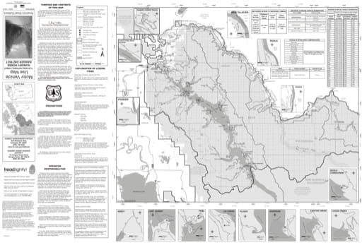 Motor Vehicle Use Map (MVUM) of Hungry Horse Ranger District in Flathead National Forest (NF). Published by the U.S. Forest Service (USFS).