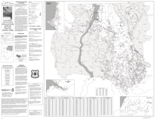 Motor Vehicle Use Map (MVUM) of Rexford and Fortine Ranger Districts Map in Kootenai National Forest (NF). Published by the U.S. Forest Service (USFS).