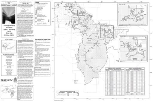 Motor Vehicle Use Map (MVUM) of Missoula Ranger District East in Lolo National Forest (NF). Published by the U.S. Forest Service (USFS).