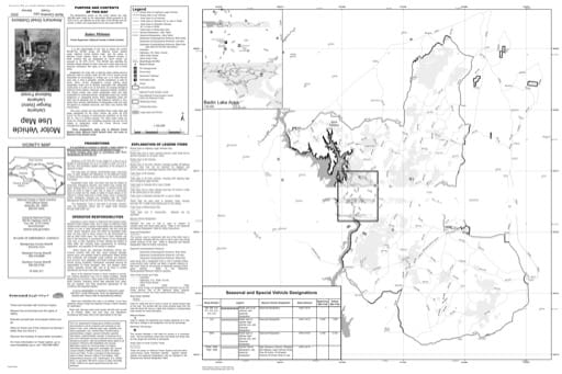 Motor Vehicle Use Map (MVUM) of Uwharrie National Forest (NF) in North Carolina. Published by the U.S. Forest Service (USFS).