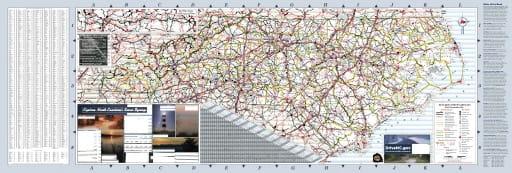 map of North Carolina - North Carolina State Map