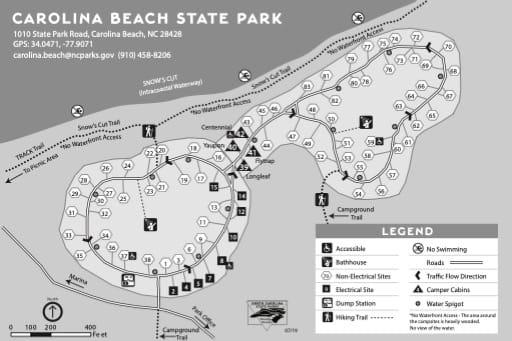 map of Carolina Beach - Campground