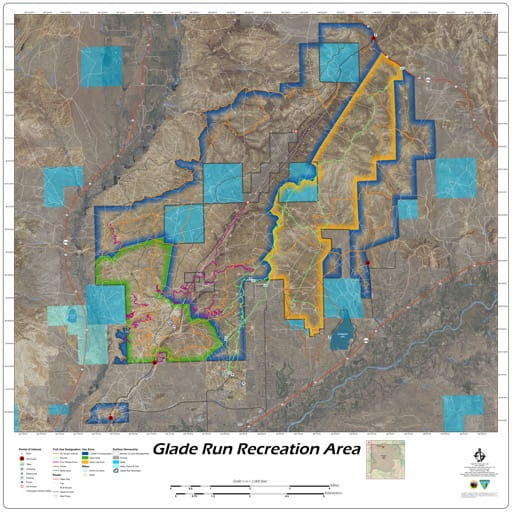 map of Glade Run - Recreation Map