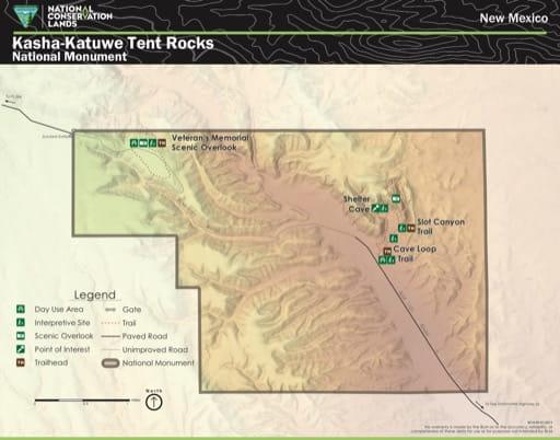 map of Kasha-Katuwe Tent Rocks - Visitor Map