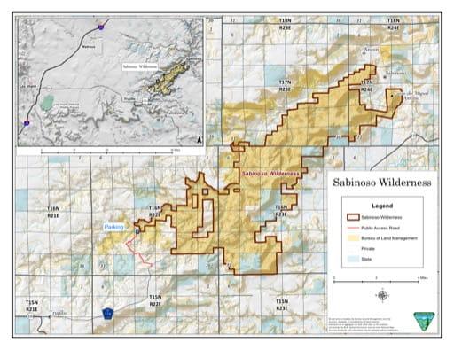 map of Sabinoso - Wilderness Map