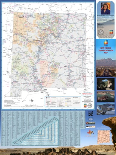 map of New Mexico - New Mexico State Map