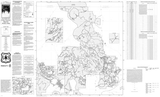 map of Carson MVUM - Tres Piedras, Canjilon, & El Rito 2016