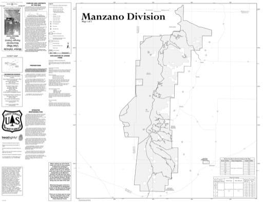 map of Cibola MVUM - Mountainair - Manzano 2015