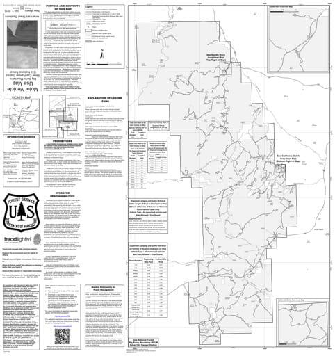map of Gila MVUM - Silver City - Big Burrow Mountains 2016