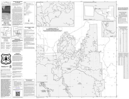 map of Gila MVUM - Silver City - Gila East - North 2016