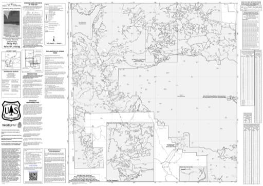 map of Gila MVUM - West - South 2016