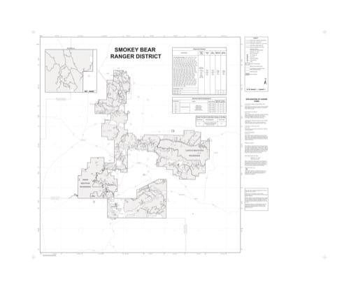 map of Lincoln MVUM - Smokey Bear 2014