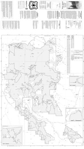 Motor Vehicle Use Map (MVUM) of the Eastern area of Santa Fe National Forest (NF) in New Mexico. Published by the U.S. Forest Service (USFS).