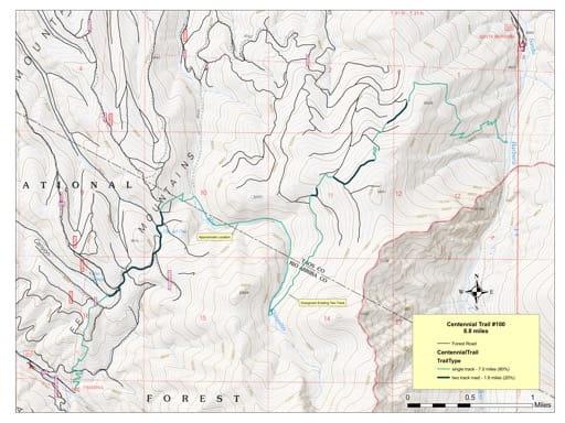 map of Carson - Centennial Trail #100
