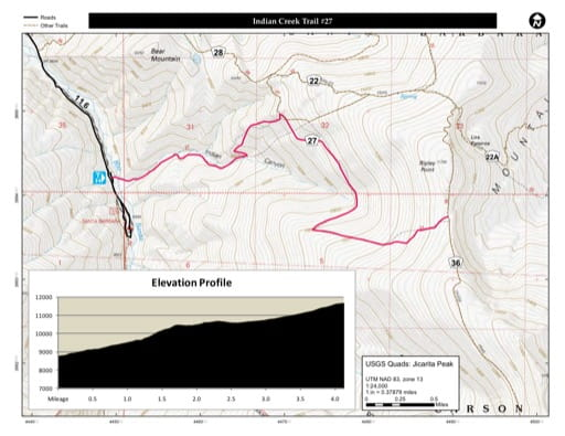map of Carson - Indian Creek Trail #27