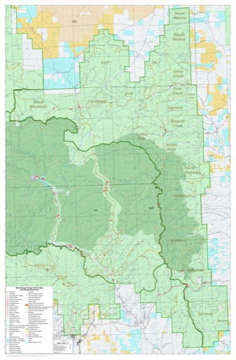 Grazing Management Map with Range Allotments of Black Range Ranger District in Gila National Forest (NF) in New Mexico. Published by the U.S. Forest Service (USFS).