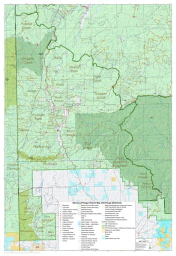 Grazing Management Map with Range Allotments of Glenwood Ranger District in Gila National Forest (NF) in New Mexico. Published by the U.S. Forest Service (USFS).
