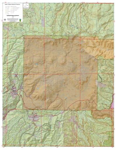 map of Valles Caldera - Trails Map