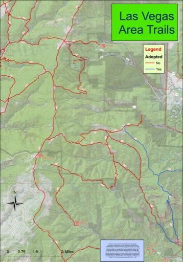 map of Las Vegas - Trail System
