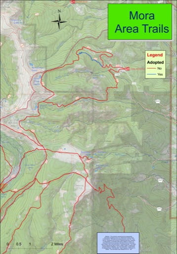 map of Mora - Trail System
