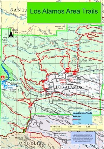 map of Los Alamos - Trail System