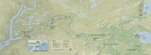 Official visitor map of Alagnak Wild River in Alaska. Published by the National Park Service (NPS).