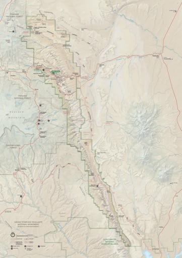 Official Visitor Map of Capitol Reef National Park (NP) in Utah. Published by the National Park Service (NPS).