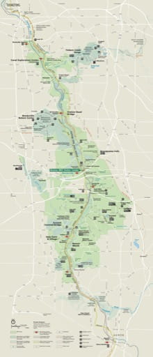 Official Visitor Map of Cuyahoga Valley National Park (NP) in Ohio. Published by the National Park Service (NPS).