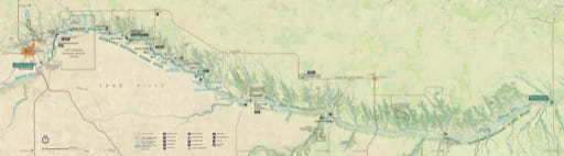 Official Visitor Map of Niobrara National Scenic River (NSR) in Nebraska. Published by the National Park Service (NPS).