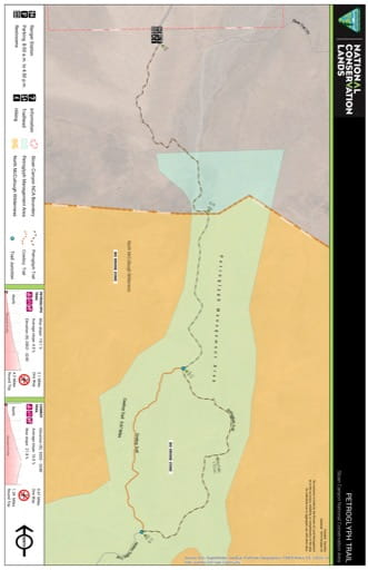 Map of Petroglyph Trail in the Sloan Canyon National Conservation Area (NCA) in Nevada. Published by the Bureau of Land Management (BLM).