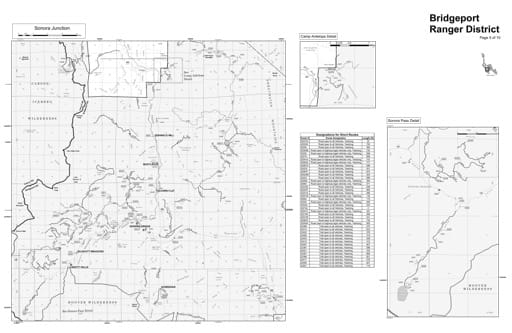 Motor Vehicle Use Map (MVUM) of the Sonora Junction area in Humboldt-Toiyabe National Forest (NF) in Nevada. Published by the U.S. Forest Service (USFS).
