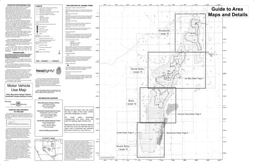 Motor Vehicle Use Map (MVUM) of the Ruby Mountains area in Humboldt-Toiyabe National Forest (NF) in Nevada. Published by the U.S. Forest Service (USFS).