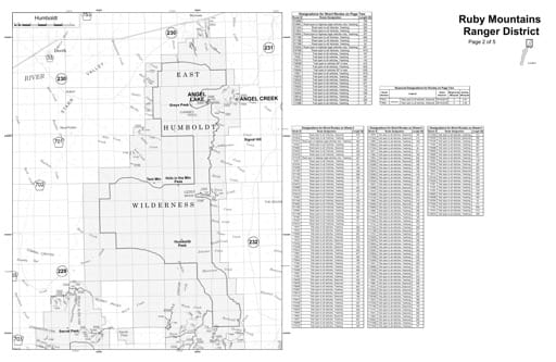 Motor Vehicle Use Map (MVUM) of the Humboldt area in Humboldt-Toiyabe National Forest (NF) in Nevada. Published by the U.S. Forest Service (USFS).