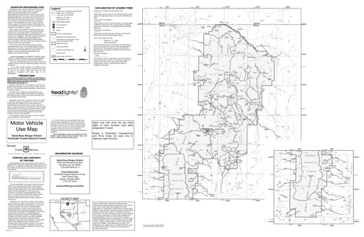 Motor Vehicle Use Map (MVUM) of the Santa Rosa area in Humboldt-Toiyabe National Forest (NF) in Nevada. Published by the U.S. Forest Service (USFS).