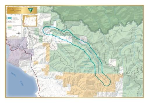 map of Bald Mountain Creek - Visitor Map