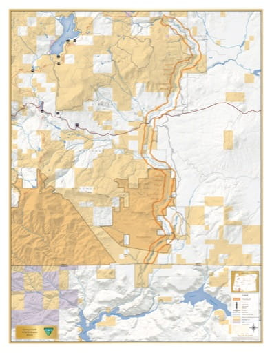 map of Jenny Creek - Visitor Map