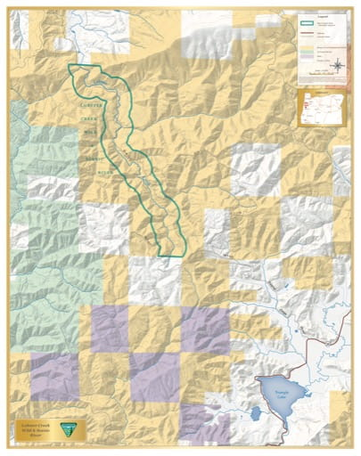 map of Lobster Creek - Visitor Map